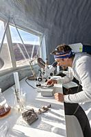 Hanksville, Utah - Researchers simulate living on Mars at the Mars Desert Research Station. 'Expedition Boomerang' brought Australian researchers to t...