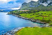 Coastal landscape. Cantabria, Spain, Europe.
