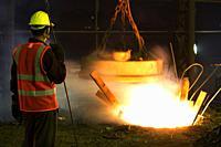 From metal scrap to iron rod making steel factory machine operator at Demra, Dhaka, Bangladesh.