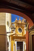 Santa Cruz, the old Jewish Quarter in Seville Andalusia Spain.