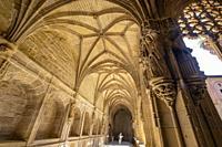claustro de los Caballeros, Monasterio de Santa María La Real, Nájera, La Rioja, Spain.