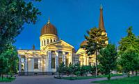 Odessa Orthodox Cathedral of the Saviors Transfiguration in Ukraine, Europe.