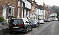 Historic Fishpool Street, St Albans, Hertfordshire, England.