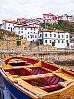 Puerto viejo (Old fishing port). Getxo. Biscay, Basque Country, Spain.