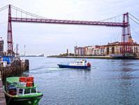 Puente Colgante de Bizkaia. Portugalete. Biscay, Basque Country, Spain.