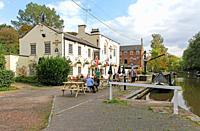 The Shropshire Fly public house or pub. Audlem, Cheshire, England, UK.