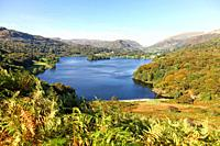 Grasmere lake in the English Lake District National Park, Cumbria, England, UK.
