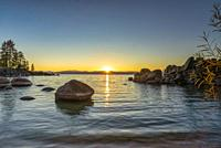 Sand Harbor Fall Sunset Lake Tahoe.