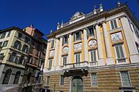 Medolago Albani Palace, Bergamo Upper Town, Lombardia, Italy, Europe.