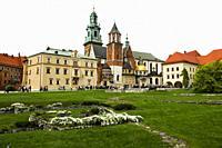 Royal Cathedral Wawel Castle Krakow Poland St. Stanislaus King Casimir EU Europe UNESCO.