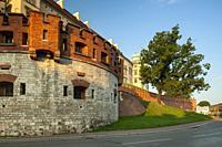 Sunrise at Wawel Castle in Krakow, Poland.