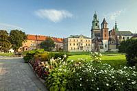 Morning at Wawel Castle in Krakow, Poland.