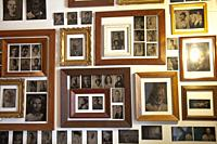 Cafe Wall with Daguerrotype Framed Prints.
