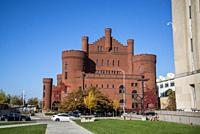 "University of Wisconsin Armory and Gymnasium, also called """"the Red Gym"""" or â. œBowserâ. . s Castle,â. . , designed in the Romanesque revival style, ..."