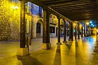 Calle Mayor - Main street. Burgo de Osma, Soria, Castilla y León, Spain, Europe.