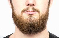 Solid man with beard and mustache. Closeup portrait of athletic bearded man. Handsome stylish bearded man. Sexy male, macho, long beard. Attractive ca...