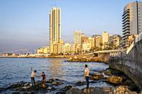 Selfie, Corniche, Beirut, Lebanon.