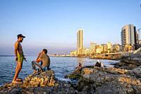 Relax time, Corniche, Beirut, Lebanon.