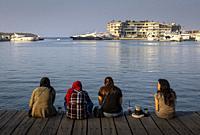 Women, Zaitunay Bay, Beirut, Lebanon.
