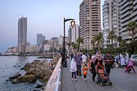 Corniche, Beirut, Lebanon.