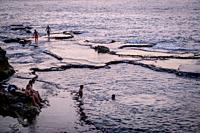 Bathers, Corniche, Beirut, Lebanon.