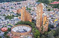 Skyline, downtown, Bogota, Colombia.