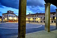 Main square of Torrelaguna, Madrid, Spain.