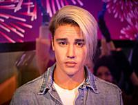 Bangkok, Thailand - November 29 2019: Wax statue of Justin Bieber at Madame Tussauds in Bangkok.
