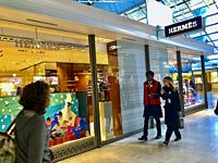 Paris, France, Roissy, Charles-de-Gaulle Airport, Interiors, Luxury Store Front, Hermés, Terminal 2-F.