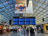 Paris, France, Roissy, Charles-de-Gaulle Airport, Interiors, Terminal 2-F, French Advertising Posters.