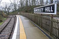 Platform at Nunckley Hill at the Mountsorrel & Rothley Community Heritage Centre.