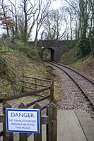 Track and tunnel at the Mountsorrel & Rothley Community Heritage Centre.