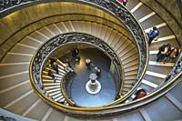 Bramante Staircase in the Vatican Museum in Rome (Italy).