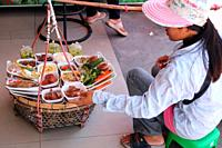 Women selling local food, Phuket, Thailand