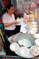 Street Food, Coconut Ice cream, Bangla Road, Phuket, Thailand