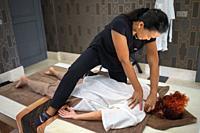 Spa massage in Finca Cortesin hotel in Málaga Costa del sol Andalusia Spain.
