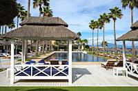 Pool of Finca Cortesin hotel in Málaga Costa del sol Andalusia Spain.