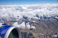 aerial view at Himalayas in Ladakh, India