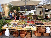 Outdoor Fruit Market, Roskilde, Denmark.