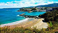 Luarca town cityscape, Valdés municipality, Asturias, Spain.
