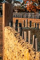 Jamestown colonist 1607 developed shelter from materials at hand, here is portion of a corner, that is recreated to show how the colonis t built homes...