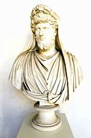 Bust of Lucio Vero (Lucius Verus) portrayed as an Arval Brother - National Roman Museum - The Baths of Diocletian - Rome, Italy.