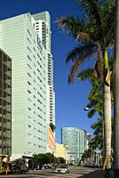 Biscayne Boulevard. Downtown Miami. Florida. USA.