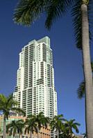 Biscayne Boulevard Building. Downtown Miami. Florida. USA.