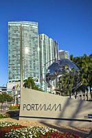 Port of Miami Entrance Sign. Downtown. Miami. Florida. USA.