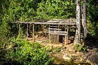 Old shed on a farm in Topes de Collantes, Trinidad, Republic of Cuba, Caribbean, Central America.