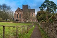 Dore Abbey the Parish Church of Holy Trinity and St Mary, Abbey Dore Herefordshire UK. February 2019.
