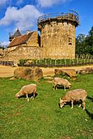 Europe, France, Burgundy, Yonne, La Puisaye, Guedelon castle.