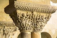 Sculpture in Cloister, Monastery, Santo Domingo de Silos, Burgos, Spain.
