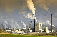 Air pollution in an industrial plant. Spain, Europe.